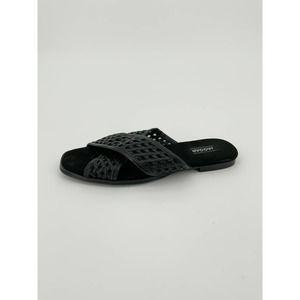Jaggar Criss Cross Sandal Slide Flat Leather